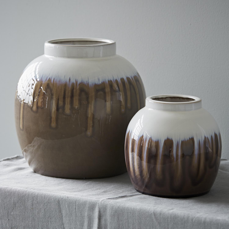 trouva broste copenhagen drip glaze vase small. Black Bedroom Furniture Sets. Home Design Ideas