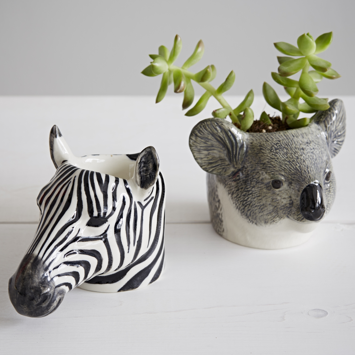 Trouva Quail Ceramics Hand Painted Zebra Animal Egg Cup