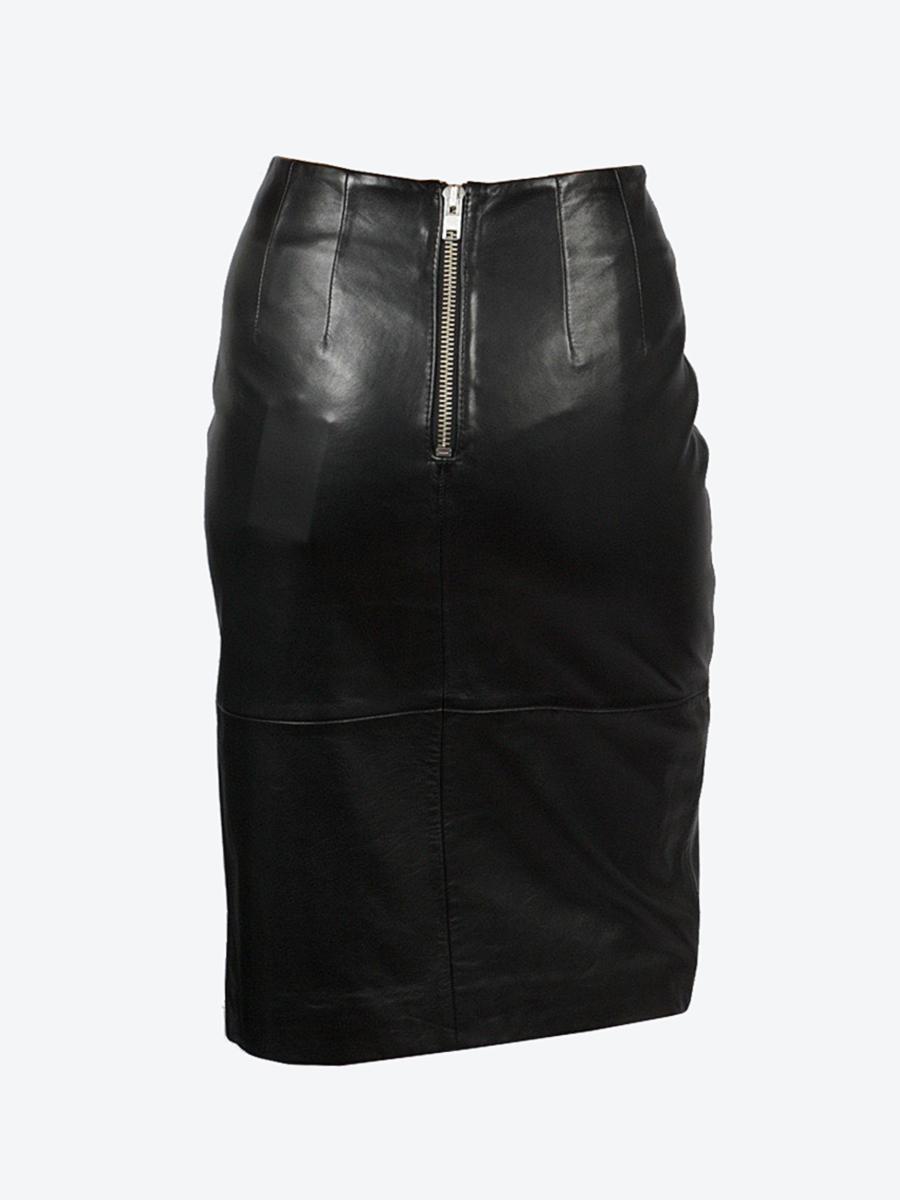 6e24514922 Trouva: Moss Leather Skirt