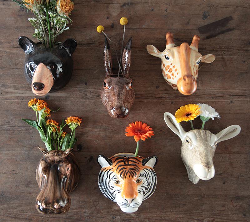 Trouva & Quail Ceramics Animal Wall Vase