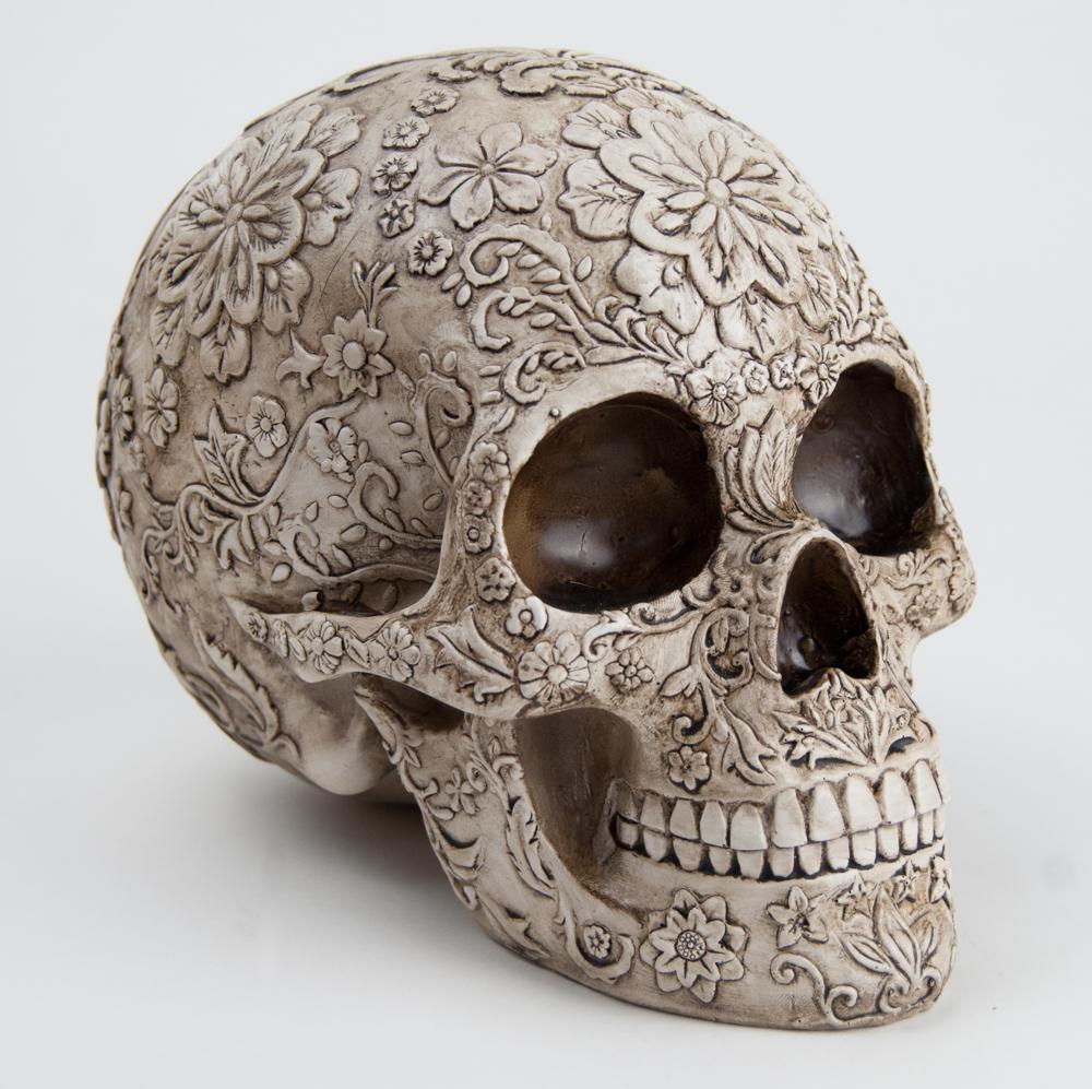 Trouva Floral Decorative Skull