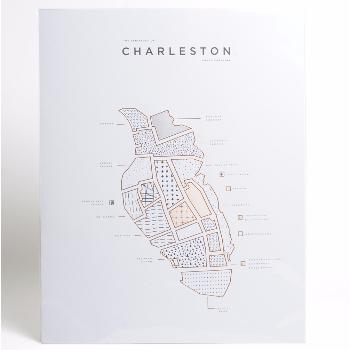 Trouva Roam By 42 Pressed Charleston Map Print