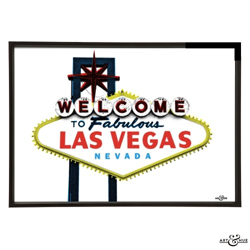 trouva welcome to las vegas art print. Black Bedroom Furniture Sets. Home Design Ideas
