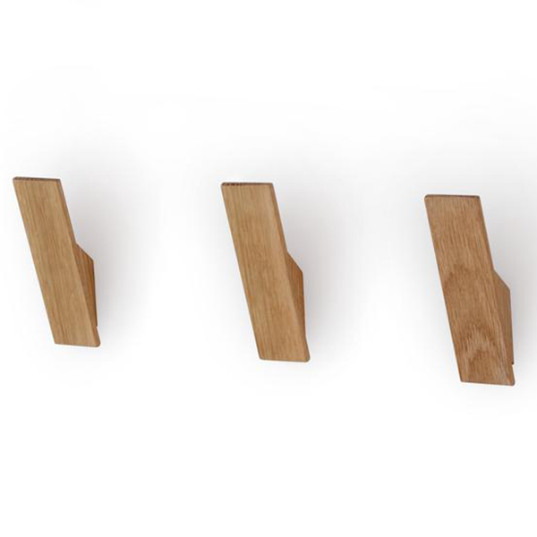Trouva Utology Set Of 3 Oak Wooden Wall Hook