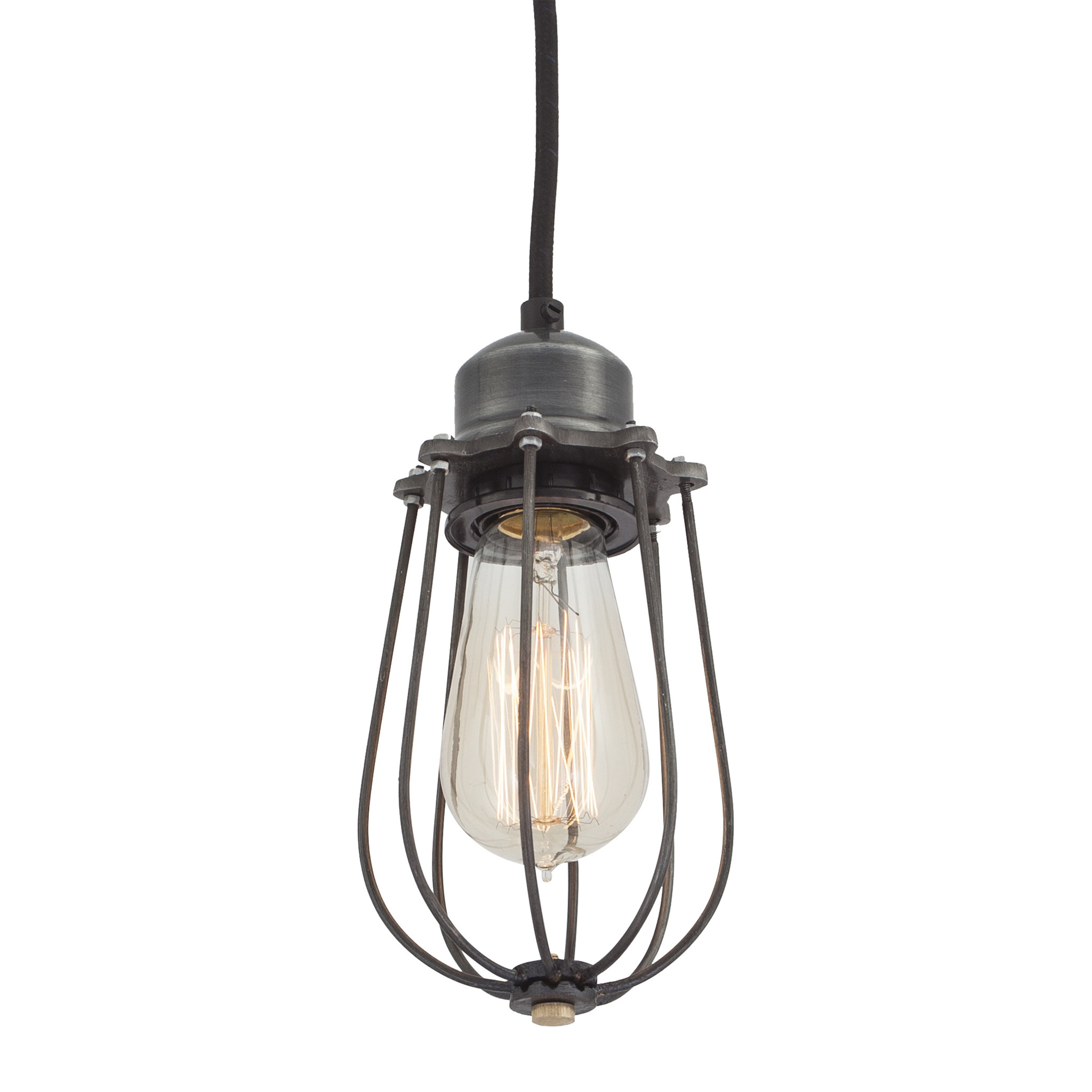 Trouva pad lifestyle brooklyn drop cage pendant light for Small hanging light fixtures