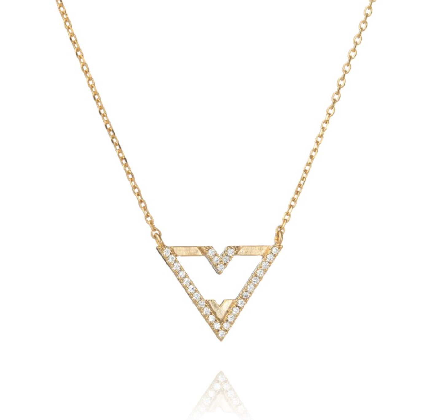 ... Stelton Kitchen And Bath By Trouva Astrid Amp Miyu Rose Gold Fitzgerald  Triangle Necklace ...