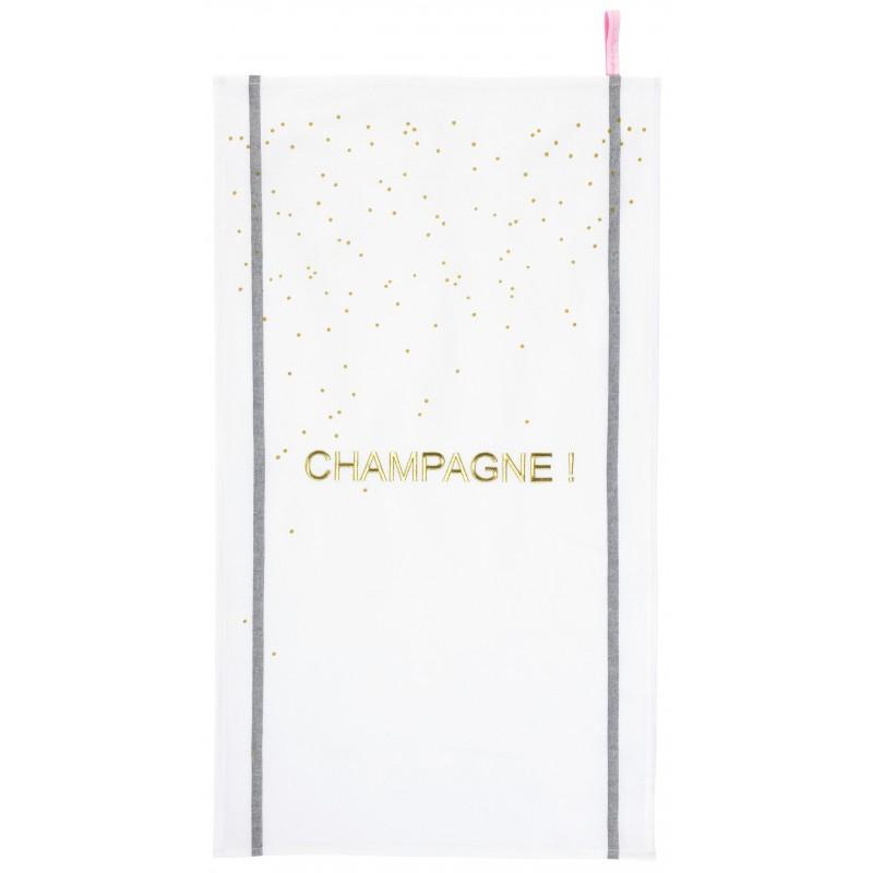 Trouva La Cerise Sur La Gateau Champagne Tea Towel