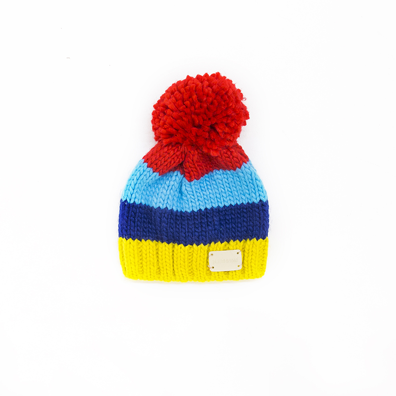 Rainbow stripe baby bobble hat from blade rose buy for Where can i buy rainbow roses in the uk