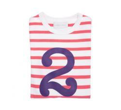 Coral Pink & Violet Number 2 T-shirt