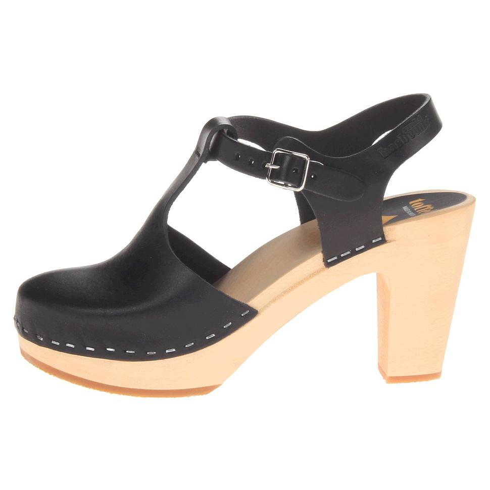 Trouva Hasbeens Black T Strap Sky High Heels