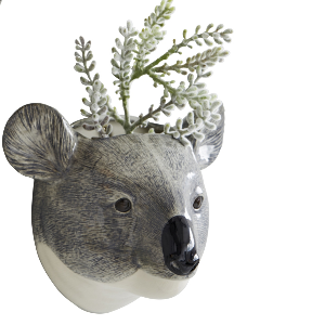 Trouva Quail Ceramics Koala Animal Head Wall Vase