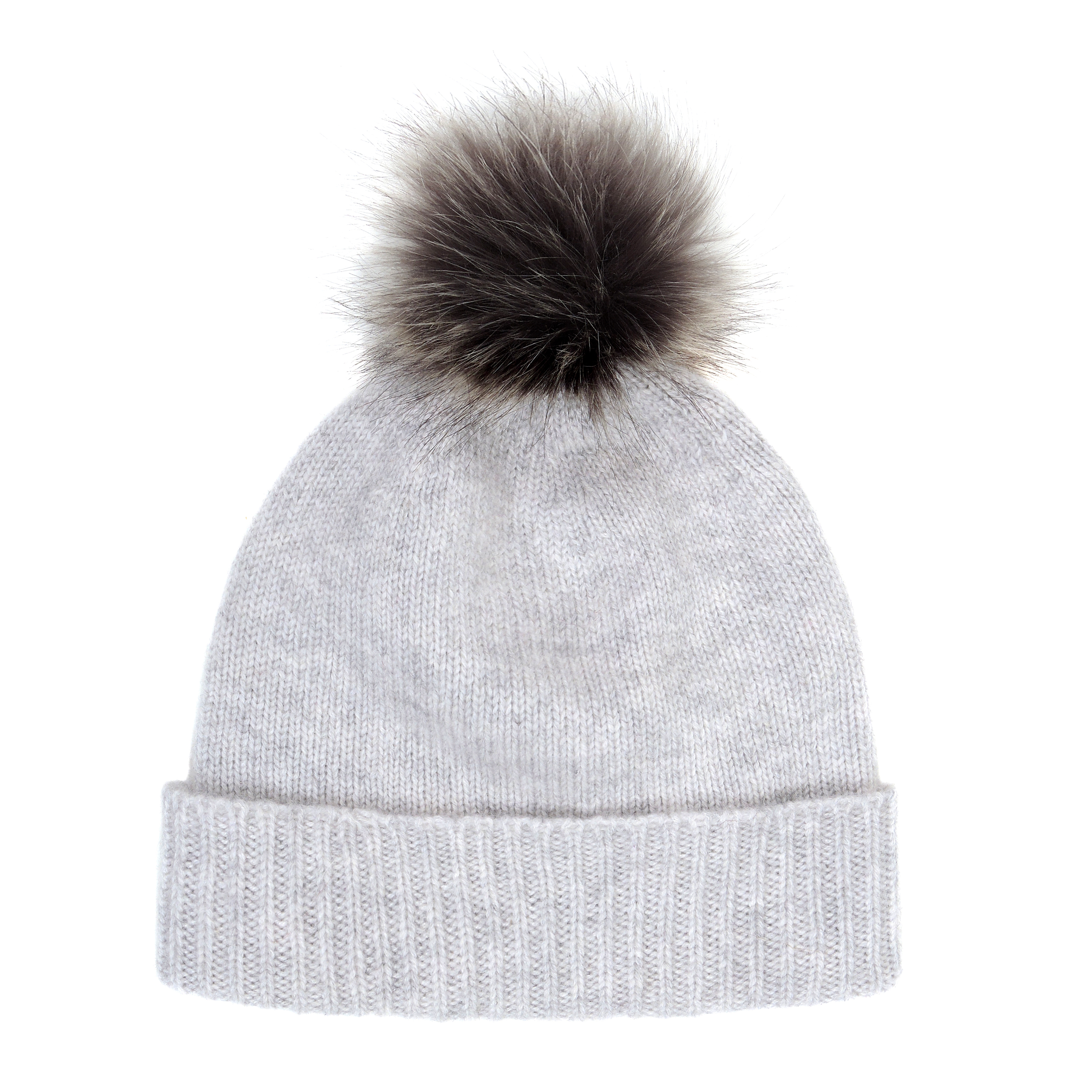 2de69d7820f Helen Moore Light Grey and Lady Grey Bobble Hat
