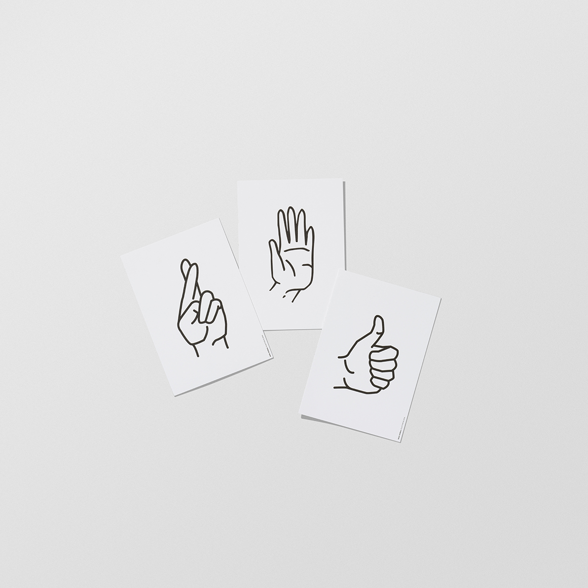 trouva  playtype postcard block