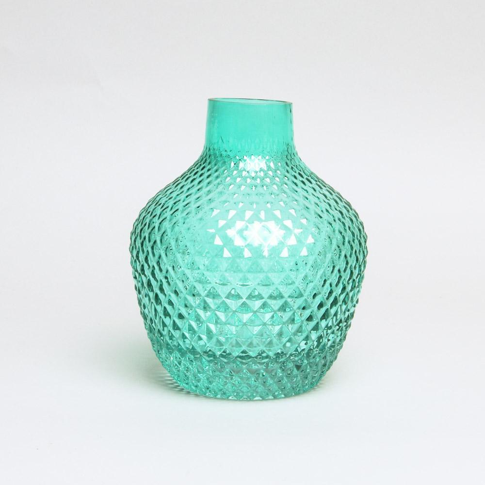 trouva turquoise seventies glass vase. Black Bedroom Furniture Sets. Home Design Ideas