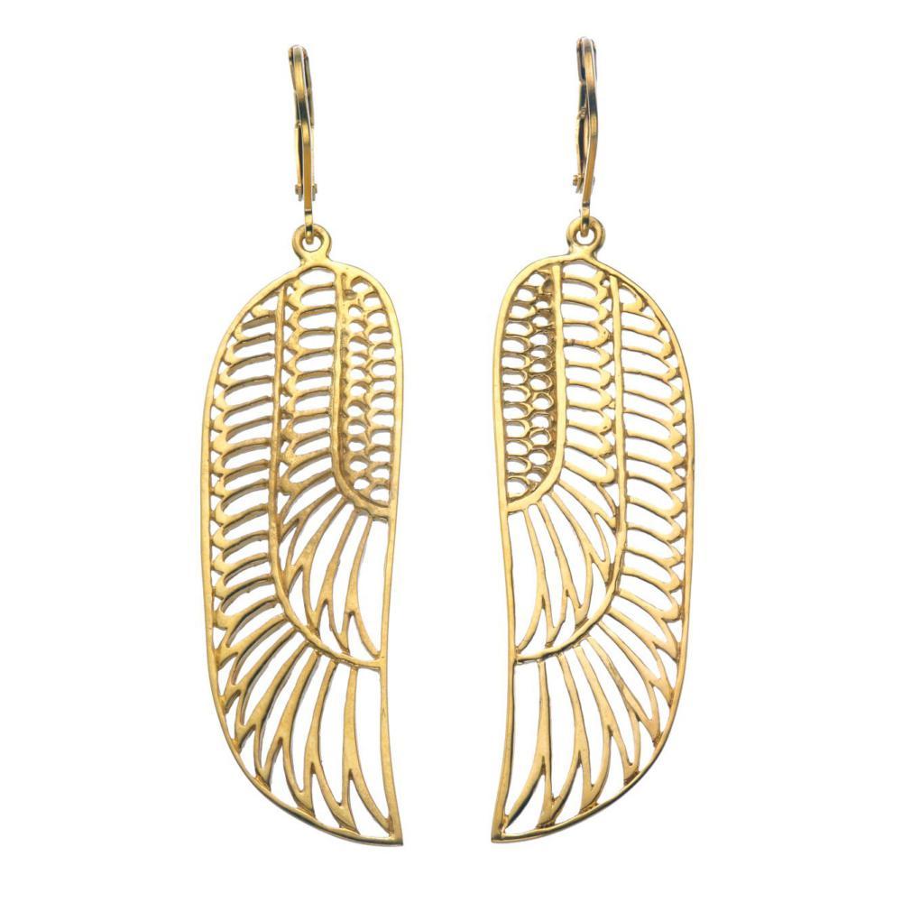 золотые серьги в египетском стиле округленные фото