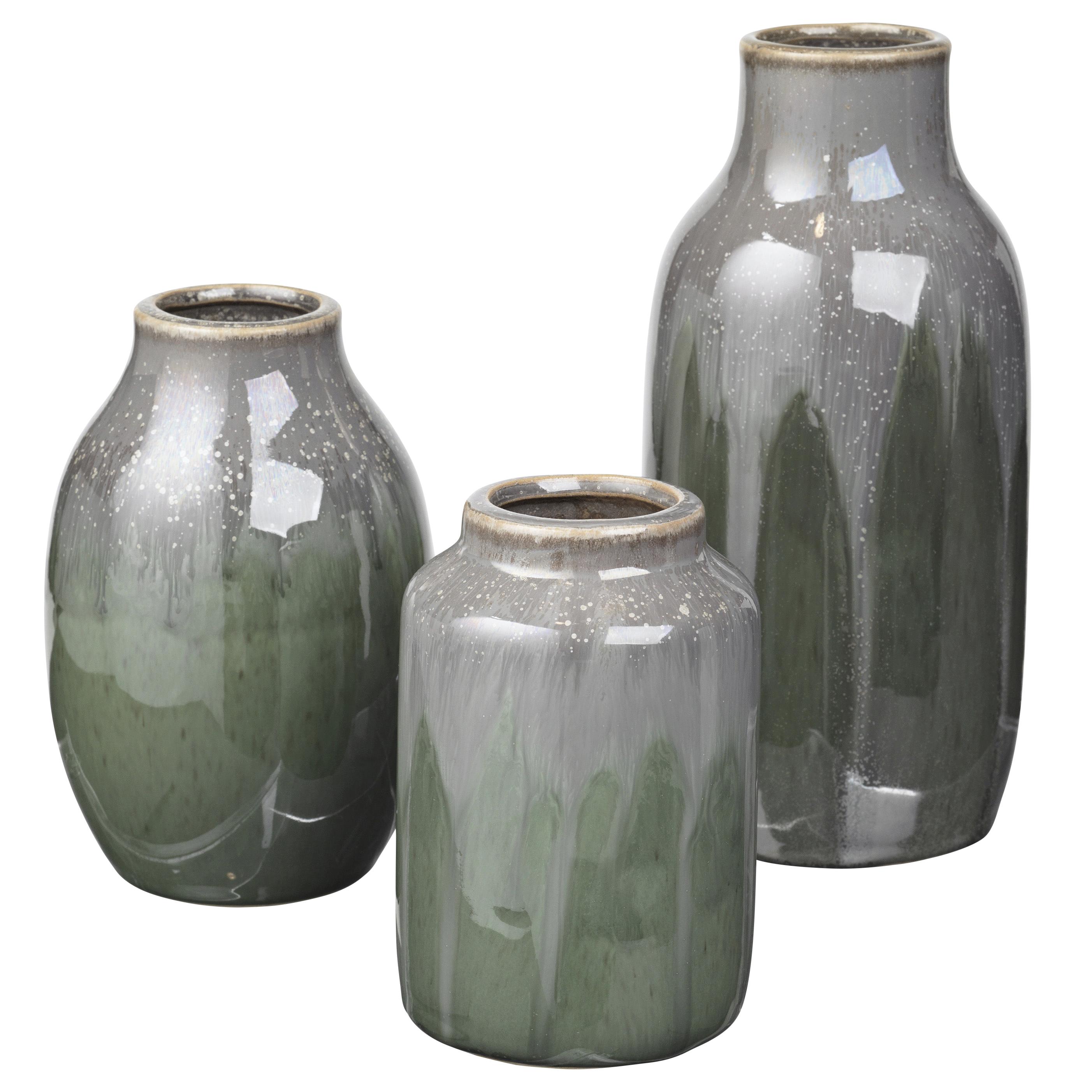 trouva broste copenhagen green ceramic vase set. Black Bedroom Furniture Sets. Home Design Ideas