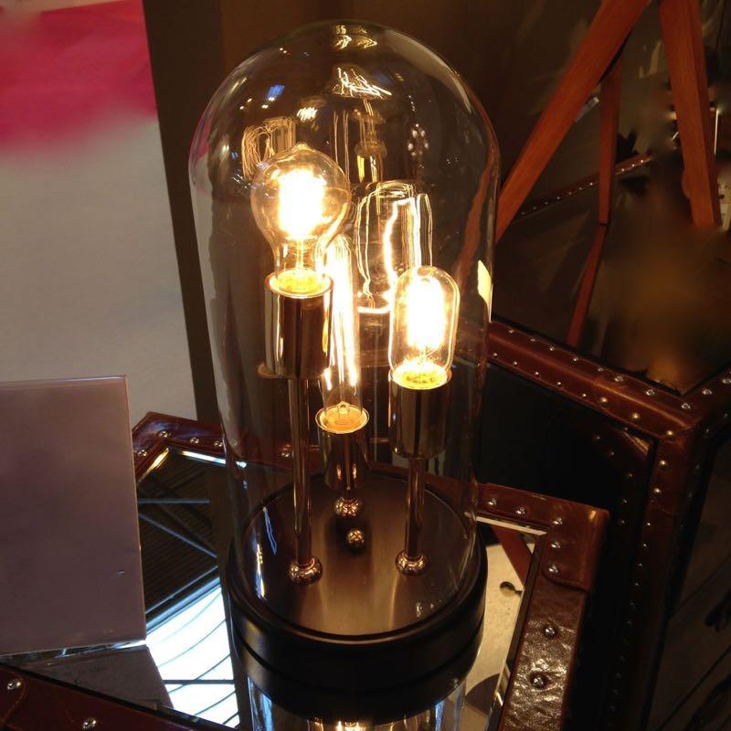 Trouva: Volta Glass Dome Table Lamp 3 Filament Bulbs