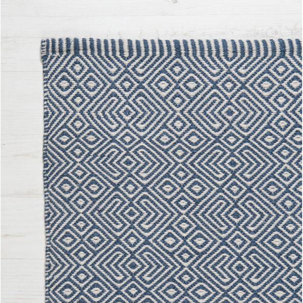 Trouva: Provence Navy 240 X 170cm Recycled Bottle Rug