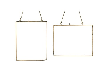 Trouva Large Copper Double Sided Glass Frame