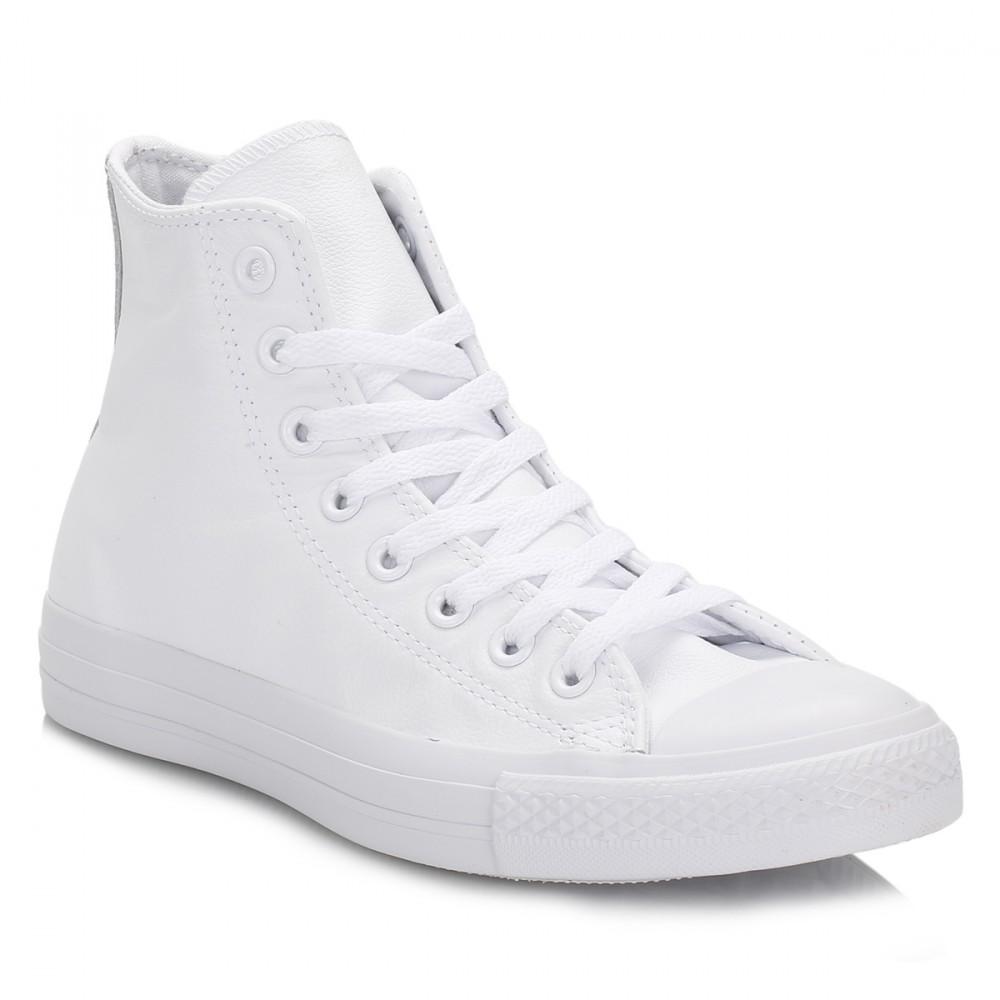 eb56b18a54a0 Trouva  Converse All Star Chuck Taylor Mono White Leather Hi Top Trainers
