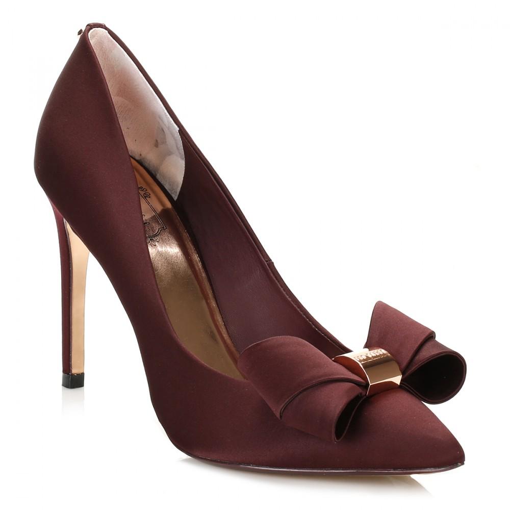 trouva ted baker womens burgundy ichlibi satin court shoes. Black Bedroom Furniture Sets. Home Design Ideas