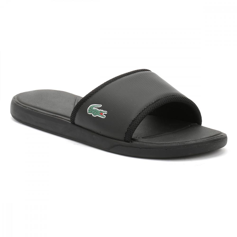 828f6d6a232fe2 Trouva  Lacoste Mens Black L 30 Slide Sport SPM Flip Flops