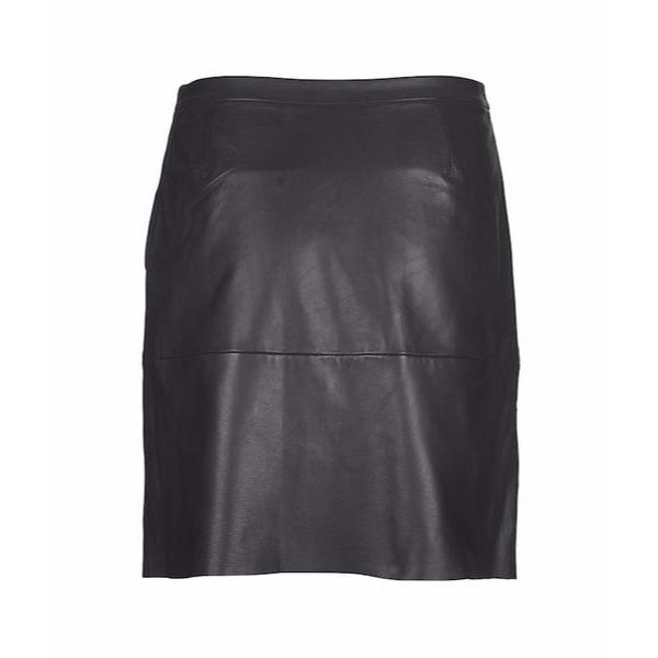 55a56d09e9 Trouva: Dark Sapphire Marvel Leather Skirt