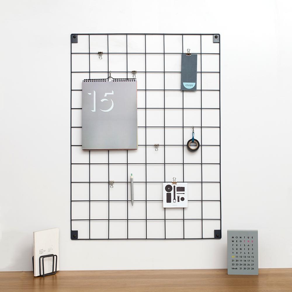 Trouva: Block Design Grey Wire Mesh Memo Board