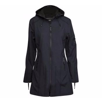 Rain 07 Hip Length Indigo  Softshell Raincoat Rain 07 Hip Length Indigo  Softshell Raincoat by Ilse Jacobsen