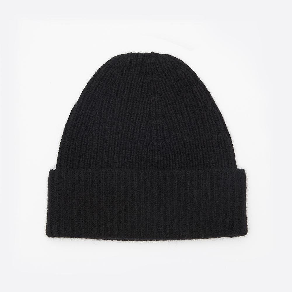 Trouva  Filippa K Rib Knit Hat In Black 280fdb27502