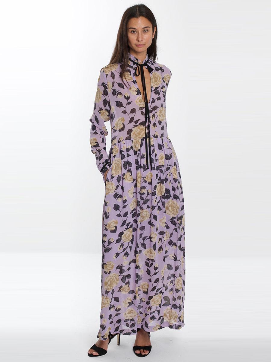 8d0fa4b6539 Trouva  Carlton Georgette Maxi Dress