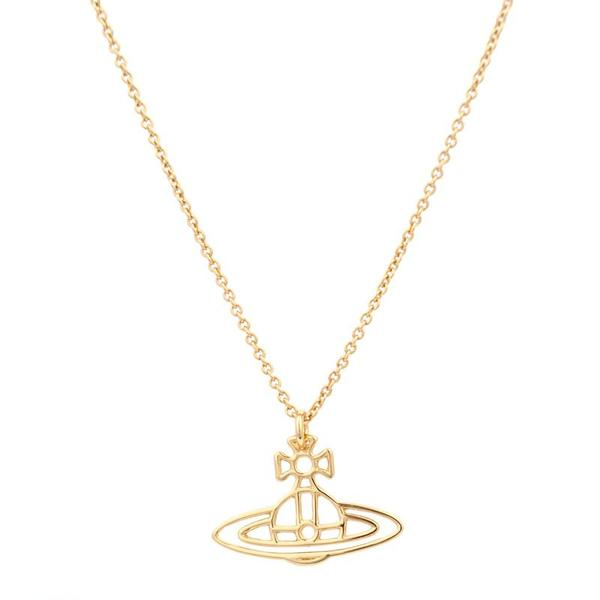 da48eefd3b553b Trouva: Gold Thin Lines Flat Orb Pendant Necklace