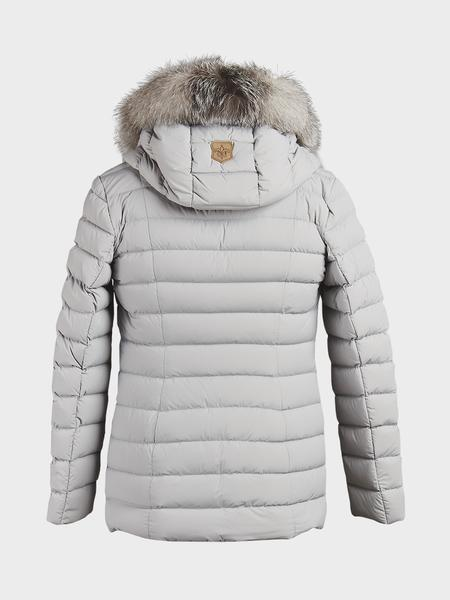 Mackage White Mineral Kadalina X Light Down With Fur Trim Jacket