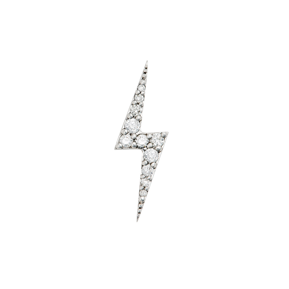 Zap White Gold Diamond Single Stud Earring