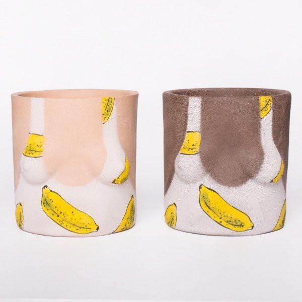 Group Partner Banana Swimsuit Girl Plant Pot