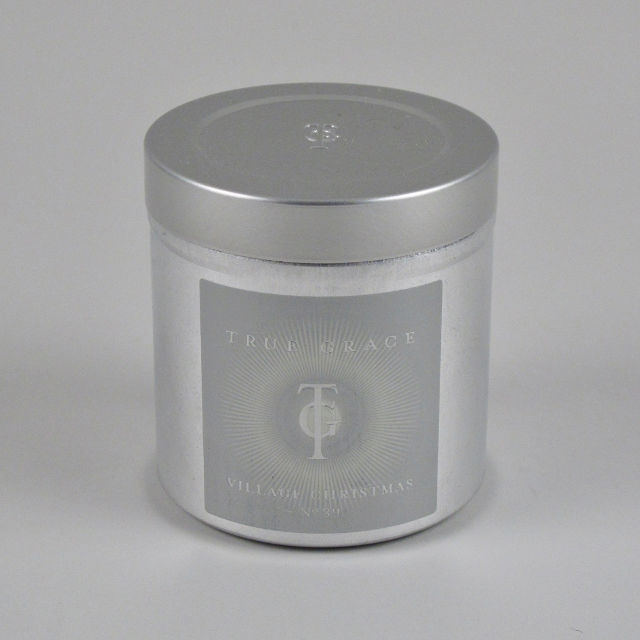 True Grace Village Christmas Candle in a Tin