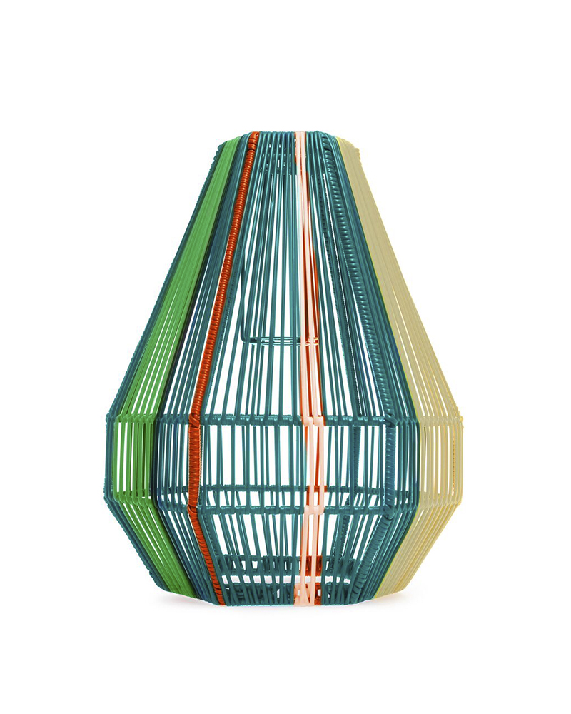 Trouva: Petrol Blue Diamante Lampshade