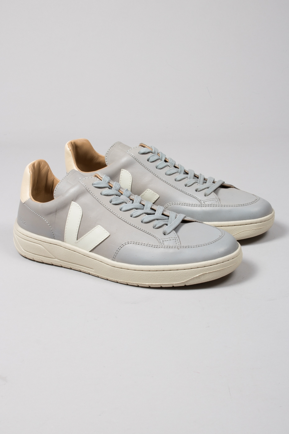 Veja Grey V 12 Bastille Leather Trainers
