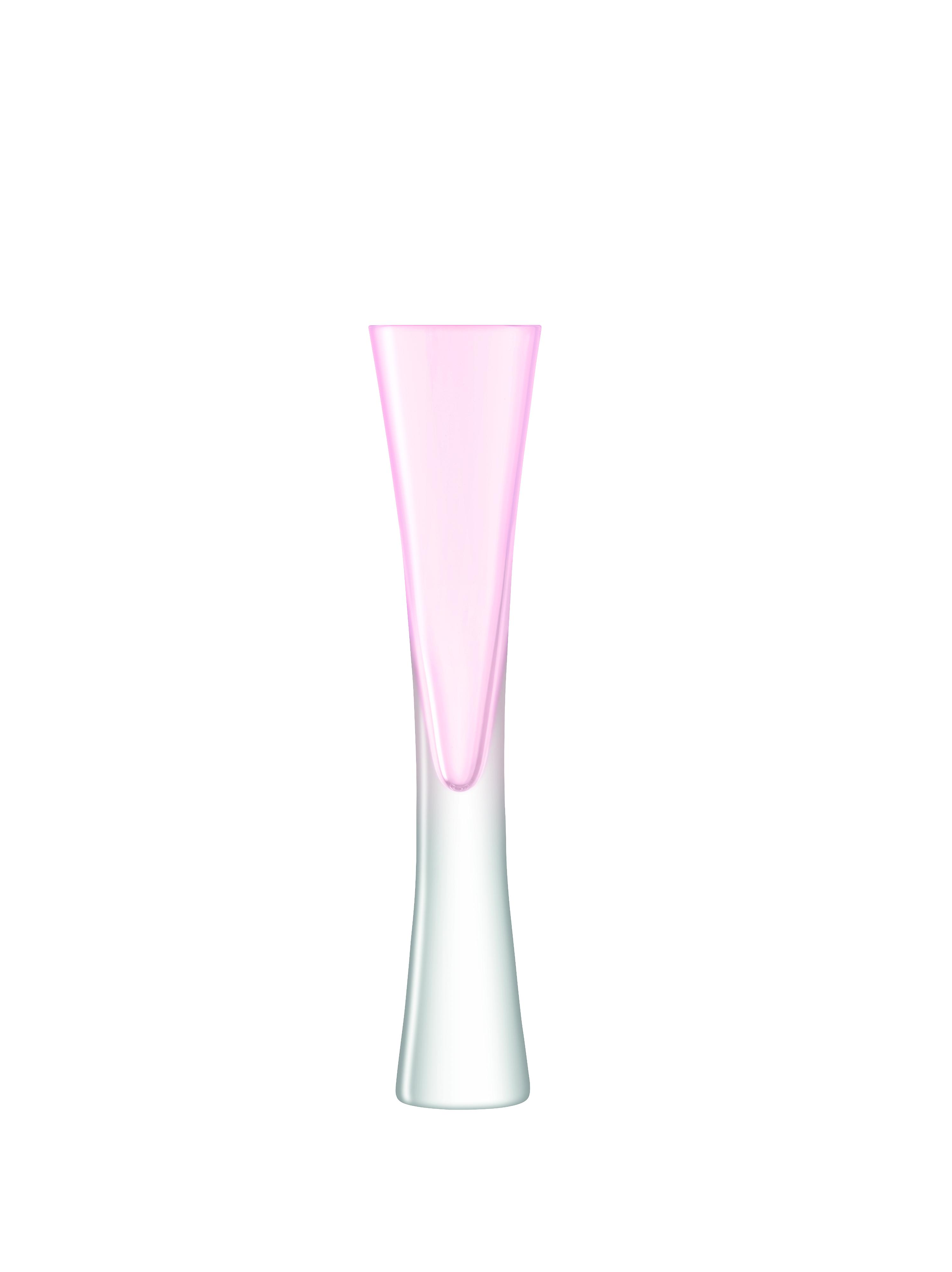 LSA International Moya Blush Flute Champagne Glasses (Pair)
