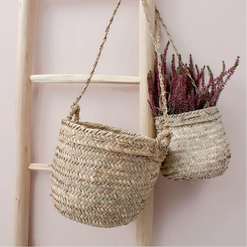Bohemia Beldi Woven Hanging Basket