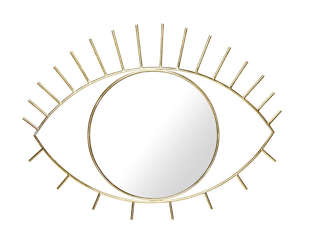 DOIY Design Large Gold Cyclops Wall Mirror