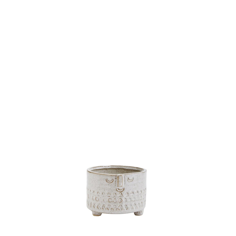 Madam Stoltz Small Stoneware Flower Pot