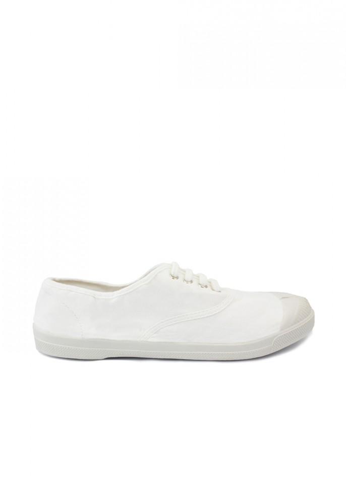 Bensimon White Lace Up Tennis Shoe