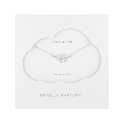 Estella Bartlett  Silver Botanica Feather Necklace