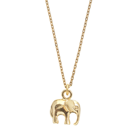 Estella Bartlett  Gold Elephant Necklace
