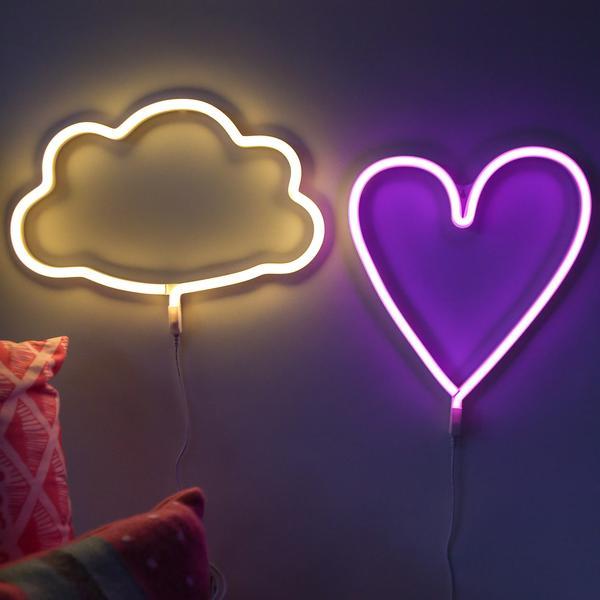 A Little Lovely Company Neon Style Heart Lamp