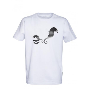 White Makia Sea Horse Tee Shirt