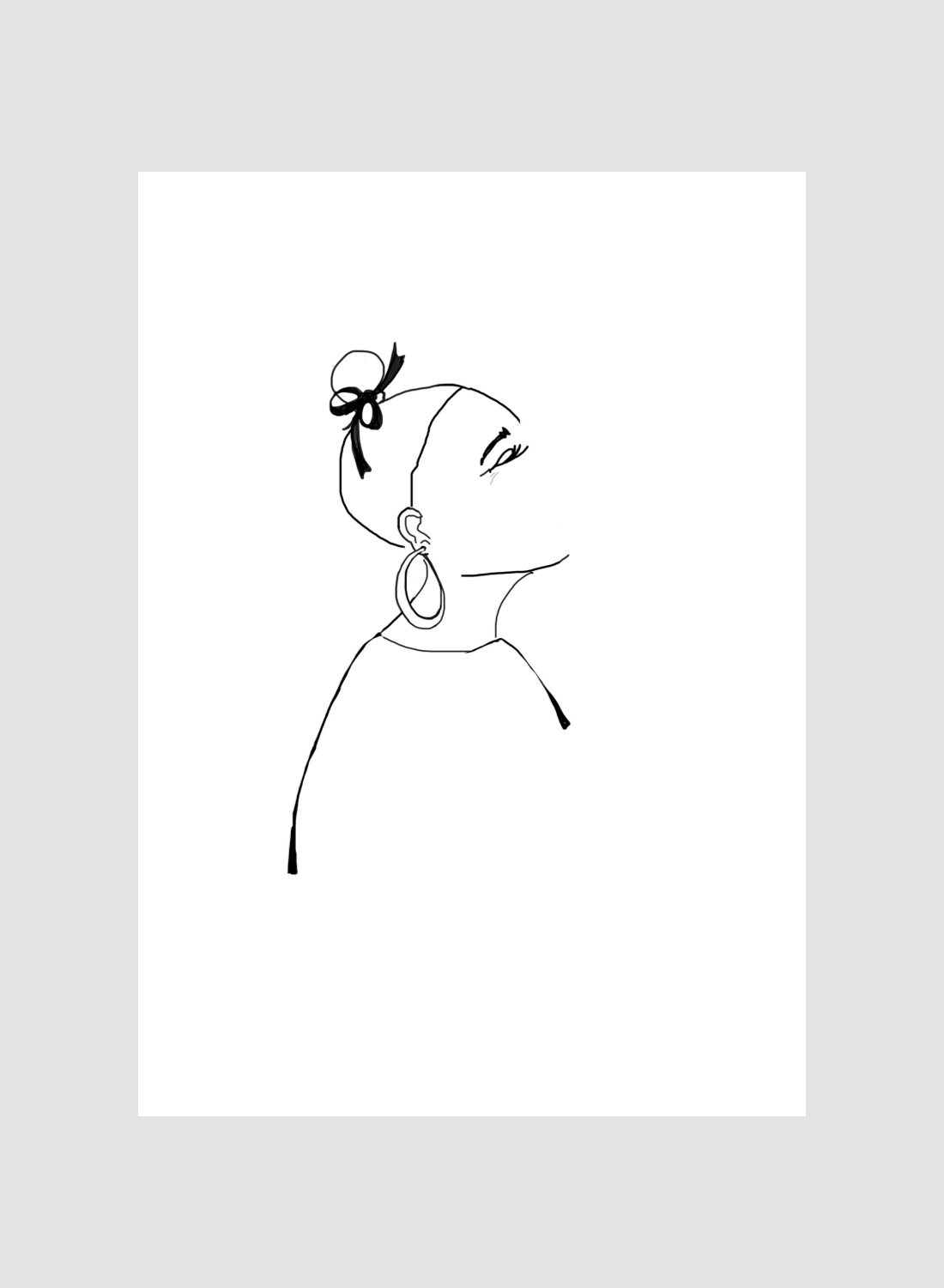 Room 356  Woman with Earring Print A3