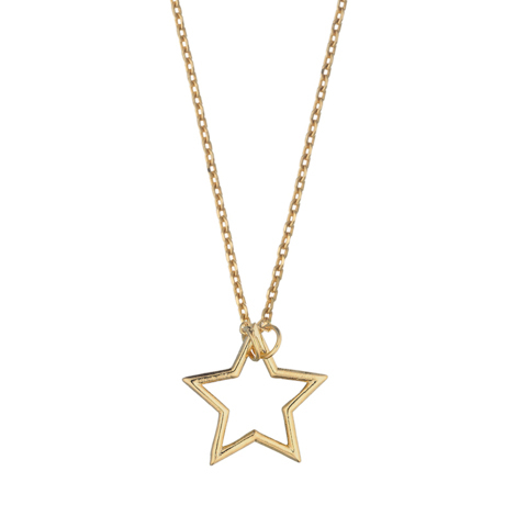 Estella Bartlett  Open Star Charm Necklace