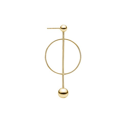 Charlotte Lebeck Crescent Gold Earring